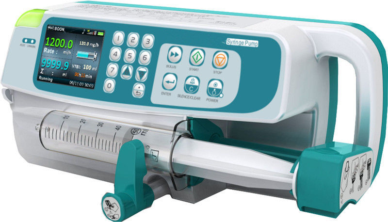 Colorful LCD Display Medical Infusion Pump Rs232 interface Syringe Pump